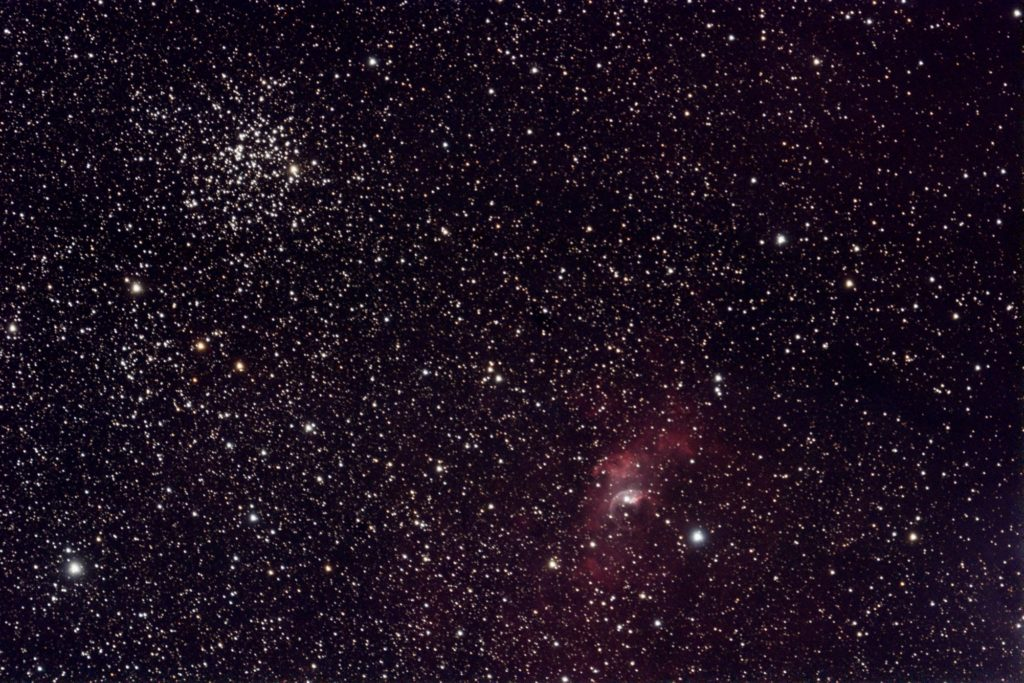 M52 and Bubble Nebula